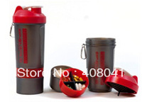 BPA Free 2013 new 3 in 1 Protein Shaker Bottle with mixingiron ball ,bpa free blender bottle