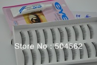 10 Pairs Hand Made Long False Eyelashes Natural with glue brand new