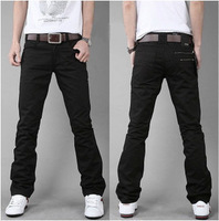 2011 male men's slim back pocket double zipper trousers Men fashion casual pants