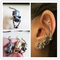 Fashion accessories personality punk kitten stud earring