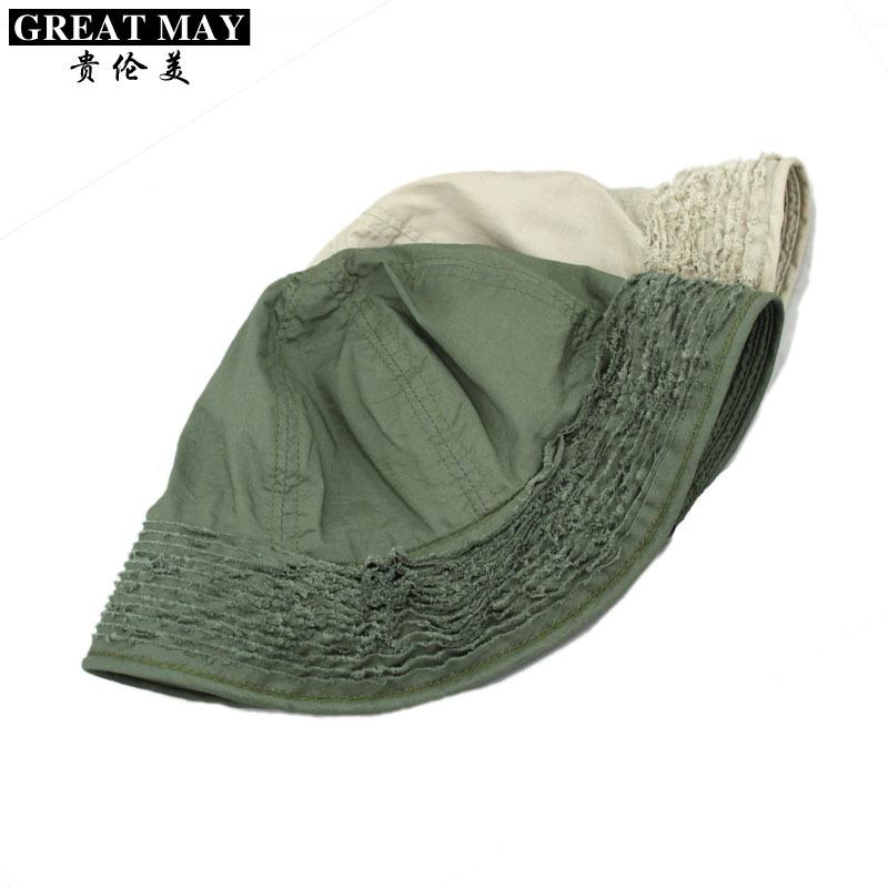 Summer female folding sunbonnet beach cap hat fabric(China (Mainland))
