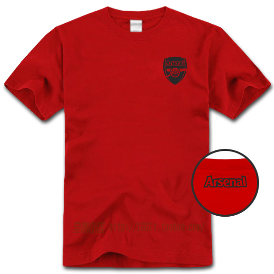 Arsenal 2 100% sports cotton short-sleeve T-shirt male short-sleeve o-neck t shirt clothes plus size plus size loose t(China (Mainland))