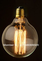 1900 Antique Vintage Edison light Bulb 40W 220V/110v radiolight G95A Large Squirrel cage lamp Tungsten Wholesale FREE SHIPPING