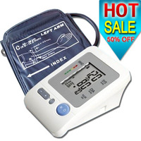 DHL/EMS free shipping 50% off Electronic Arm-type fully automatic blood pressure monitor Heart Beat Meter  24pcs/lot