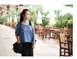 2013 summer hot sell new women modal loose short batwing sleeve o-neck t-shirt frock Free shipping A0002(China (Mainland))
