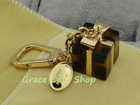 Famous Branded Bag Charms Gift Box Style Free Shipping Using In Bag/Moblie/Key #L32-Dark Coffee