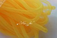 Skinny 8mm wide Tubular Crin polyester tube Millinery Hat Trim - yellow 30 yard/lot