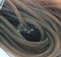 Skinny 8mm wide Tubular Crin polyester tube Millinery Hat Trim - brown 30 yard/lot