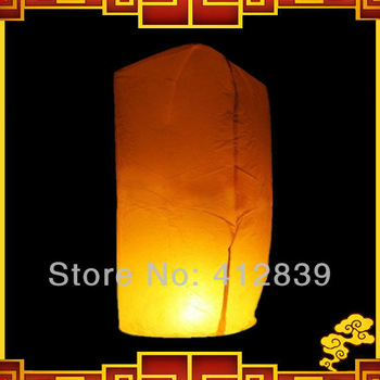 New 30pcs/lot Mixed color Chinese fire lantern Cylinder Shape sky balloon fire lamp for wedding party