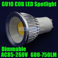 2X Retail Dimmable 8w GU10 Cob Light LED Bulb Lamp Downlight