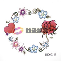 Sexy Fashion Ladies Body Art Temporary Tattoo stickers waterproof Women stick navel garland tattoo stickers tm060111