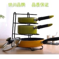 Multifunctional storage pot rack shelf houselinen shelf chopping block cutting board rack