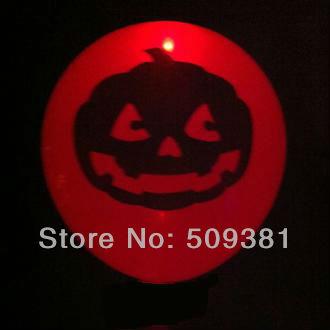 50 pcs/Lot, Free Shipping, Led Light Flashing Balloons, Halloween Pumpkin Style. Festival Balloons, Holiday Decoration.Orange(China (Mainland))