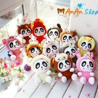 12pcs New Cute Stuffed Animal Doll 8'' Plush Panda Chinese Zodiac Soft Toy Birthday Christmas Gift For Kids Baby Girlfriend