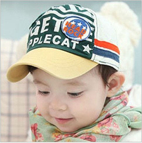 Hat Wholesale 30pcs/lot Baby Infant Children 11 letters Hats HEAD ROCK Label hat baseball cap EMS DHL Free shipping(China (Mainland))