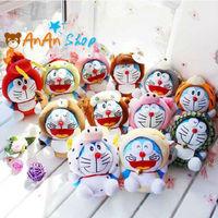 12pcs New Cute Stuffed Animal Doll 8'' Plush Chinese Zodiac Doraemon Soft Toy Birthday Christmas Gift For Kids Baby Girlfriend