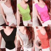 Free Shipping Clothes women's fashion all-match 2013 sexy V-neck pads t 7 mushroom