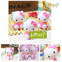 Free shipping 20pcs/lot Korean Stationery Novelty Hello kitty Cartoon Telescopic Pen&Ball Pen 3color Best gifts for kid's