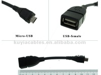50PCS/LOT USB OTG Cable Extension Cable USB 2.0 OTG USB Host Cable +Free Shipping+Tracking number