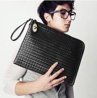 fashion man bag handbag unisex bag all-match messenger bag casual PU leather bag wholesale and retail