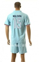 new  13 - 14 France 15# MALOUDA T-SHIRT soccer jersey blue  2013-2014  season  national team jerseys cheap  hot sell good