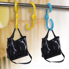 Free Shipping 3pcs Plastic S Shape Coat bag Hook Clasp Hanger Kitchen Utensil(China (Mainland))