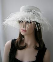 Ostrich wool yarn fedoras ihat organza fish professional hat