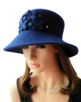 Florid - ihat flower wool hat fedoras cap billycan fish