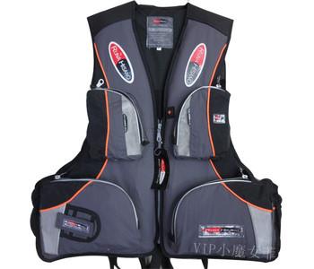 Lqx007 life jacket grey multifunctional multi-pocket snorkeling life vest