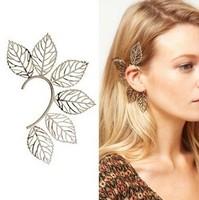 Six Leaves Punk style Earrings Wholesale Fashion Jewelry Clip Stud Earring Ear Cuff Supplier EA119 Free Shipping