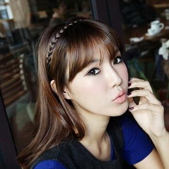 Black hair Large twisted elastic knitted - wig bianzi hot-selling bohemia hair accessory