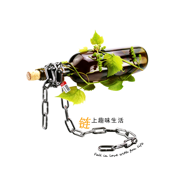 Magic iron chain mount magic suspended chain wine rack train chain wine bottle rack free shipping(China (Mainland))