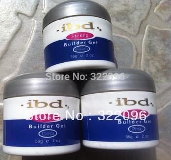 free shipping 10pcs/lot Acrylic Nail Art UV Gel nail saloon profesional nail art IBD Builder Gel 2oz / 56g 3color can be choose