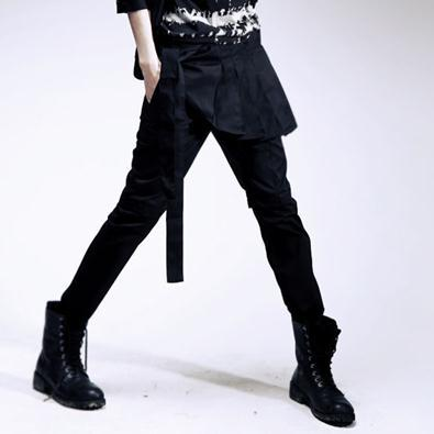 Non-mainstream men's clothing 2013 novelty personality dress male casual pants culottes men's clothing(China (Mainland))
