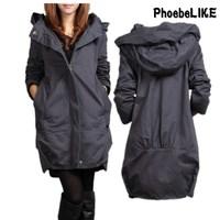 Plus Size Long Women Trench Coat 2014 Women's Slim Trench Outerwear Fashion Women's Medium-long Causal Coat SC3084