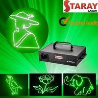 1watt ILDA green Beam animation projector