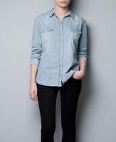 hot sale free shipping  summer fashion women jeans shirts