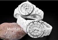 Ceramic Black White Ladies Men Lovers Watch Fashion Rhinestone Sheet Jelly Table Trend Luxury Super Star Favorite Luminous Watch