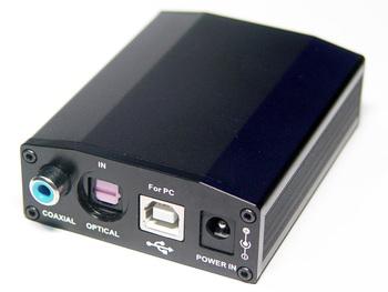 optical fiber coaxial 24bit , 192khz audio decoder belt usb  sound card usb coaxial