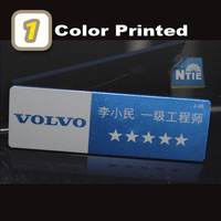 75X25mm 1 color printed aluminum alloy staff name badge tag 50pc/Lot,DHL/UPS/EMS Free shipping