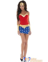 Free Shipping Sexy Adult Wonder Woman Costume - Red wholesale HL1242