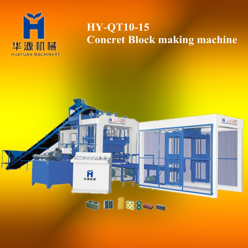 (With SIEMENS hydraulic system from Germany) HY10-15 automatic block making machinery, made in china block making machinery(China (Mainland))