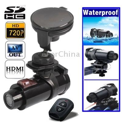 Hd 720 P impermeável Sport Helmet Action Camera DVR suporte a cartão SD ângulo de visão : 120 grau usando na bicicleta Motor(China (Mainland))