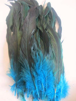 New 50Pcs OVER BADGER SADDLE ROOSTER FEATHERS Sky Blue colors 10-12 inches long