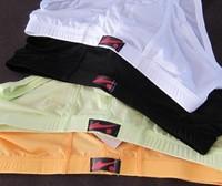 free shiping Men's underwear thin ice silk underwear sexy translucent Xiaoping angle underwear