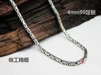 sexy classic men use necklace neck chain 925 silver thai silver 4mm*47cm