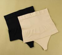 free shipping Seamless high waist abdomen body shaping drawing tiebelt thong slim waist thermal huwei female t