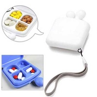 Free Shipping Portable 4 Slot Tablet Pill Box Holder Medicine Storage Organizer Container Case