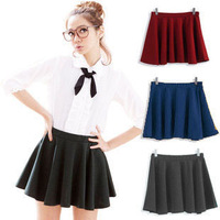 2013 summer skirts the country fresh high waist slim spring and autumn tutu pleated skirt women's retail and wholesale