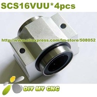 linear bearing blocks 4pcs SC16VUU with LM16UU inside SCS16VUU SCV16UU Linear case unit
